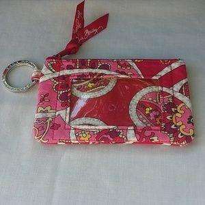 Vera bradley ID holder with zipper pocket